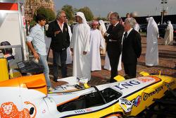 Nelson A. Piquet, Flavio Briatore, Sheikh Mohammed bin Zayed al Nahayan, Bernie Ecclestone