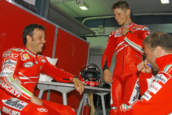 Loris Capirossi and Casey Stoner