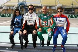 Danica Patrick, Dario Franchitti, Tony Kanaan and Marco Andretti