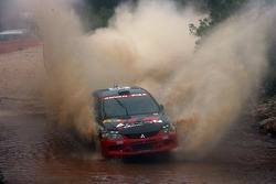 Fumio Nutahara and Daniel Barritt, Advan-PIAA Rally Team Mitsubishi Lancer Evolution IX
