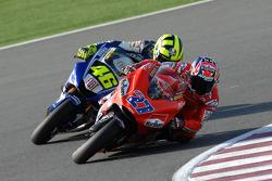 Casey Stoner y Valentino Rossi