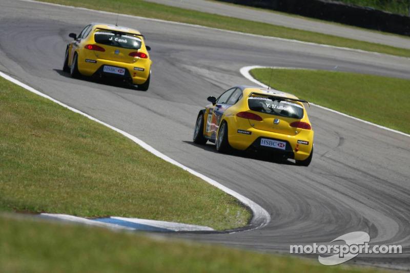 Jordi Gene, SEAT Sport, SEAT Leon et Yvan Muller, SEAT Sport, Seat Leon