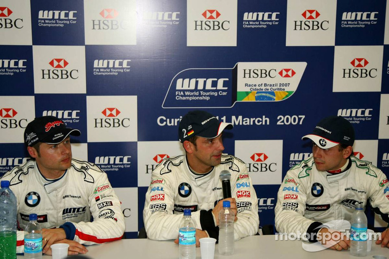 Pole position, Jorg Muller, BMW Team Germany, BMW 320si WTCC, 2nd, Augusto Farfus, BMW Team Germany, BMW 320si WTCC, 3rd, Andy Priaulx, BMW Team UK, BMW 320si WTCC