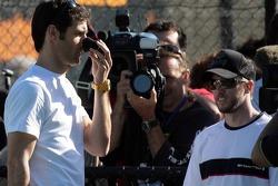 Mark Webber, Red Bull Racing et Nick Heidfeld, BMW Sauber F1 Team