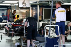 Red Bull Racing work on their car