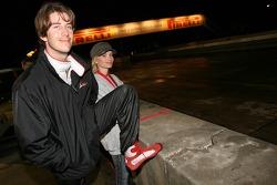 Arie Luyendyk Jr. with his girlfriend