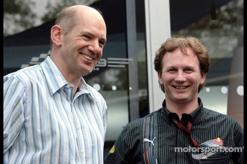 Adrian Newey, Red Bull Racing, Technisch operationeel directeur, en Christian Horner, Red Bull Racing, Sportief directeur
