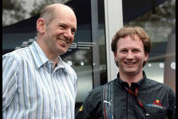 Adrian Newey, Red Bull Racing, Technical Operations Director and Christian Horner, Red Bull Racing, Sporting Director