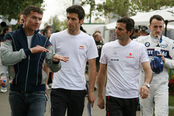 David Coulthard and Mark Webber, Red Bull Racing, Pedro de la Rosa, McLaren Mercedes, Robert Kubica, BMW Sauber F1 Team