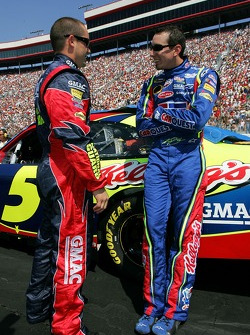 Casey Mears and Kyle Busch