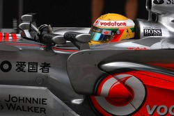 Four mirrors on the car of Lewis Hamilton, McLaren Mercedes
