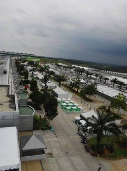Paddock of Sepang Circuit