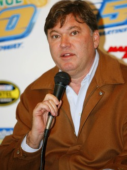 Robin Pemberton, NASCAR's vice president for competition, speaks during a press conference