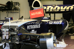 Fuel message on the Williams F1