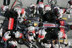 Pitstop for Lewis Hamilton
