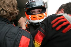 Nico Hulkenberg, Driver of A1Team Germany celebrates with the teaam