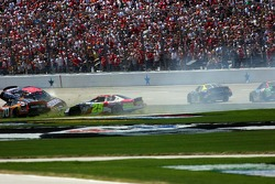 Ricky Rudd slides on top of Regan Smith