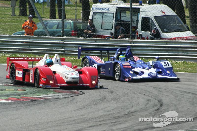 #3 Scuderia Lavaggi Lavaggi LS1 - Ford: Giovanni Lavaggi, Marcello Puglisi, #31 Binnie Motorsports Lola B05/40 - Zytek: William Binnie, Allen Timpany, Chris Buncombe