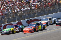 Jeff Gordon and David Gilliland lead the field to the green flag