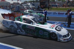 Ashley Force and John Force met in Round 1