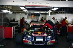 Pitbox of Mattias Ekström, Audi Sport Team Abt Sportsline, Audi A4 DTM