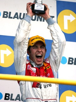 Podium, Mike Rockenfeller, Audi Sport Team Rosberg