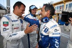 Stéphane Sarrazin and Serge Saulnier celebrate victory