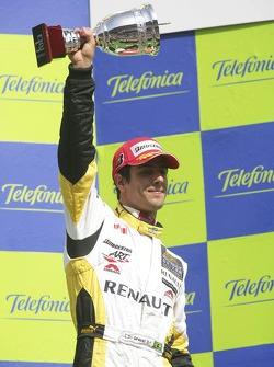 Lucas di Grassi on the podium