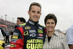 Casey Mears poses for a photo with his mom, Carol Mears