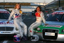 The female drivers in the DTM: Susie Stoddart, Mücke Motorsport AMG Mercedes and Vanina Ickx, TME