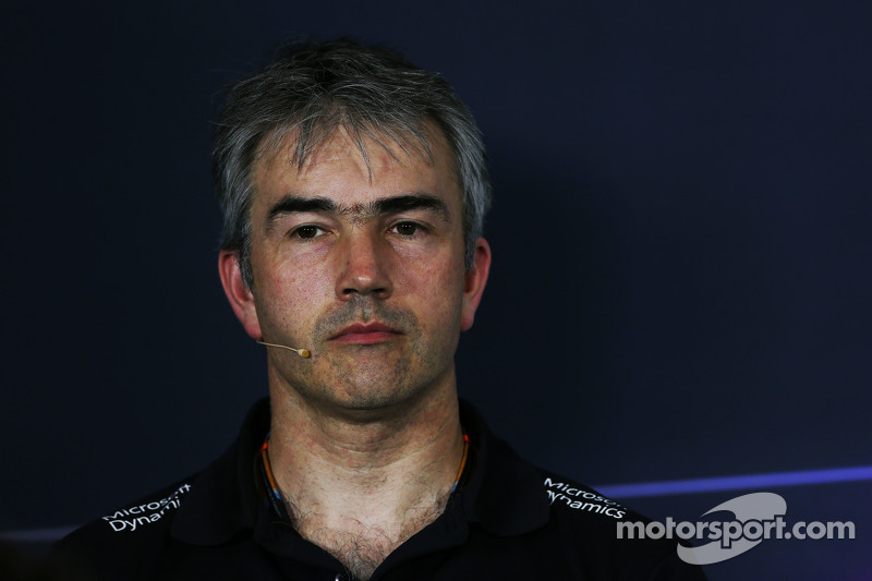 Nick Chester, Lotus F1 Team, Technischer Direktor, in der FIA-Pressekonferenz