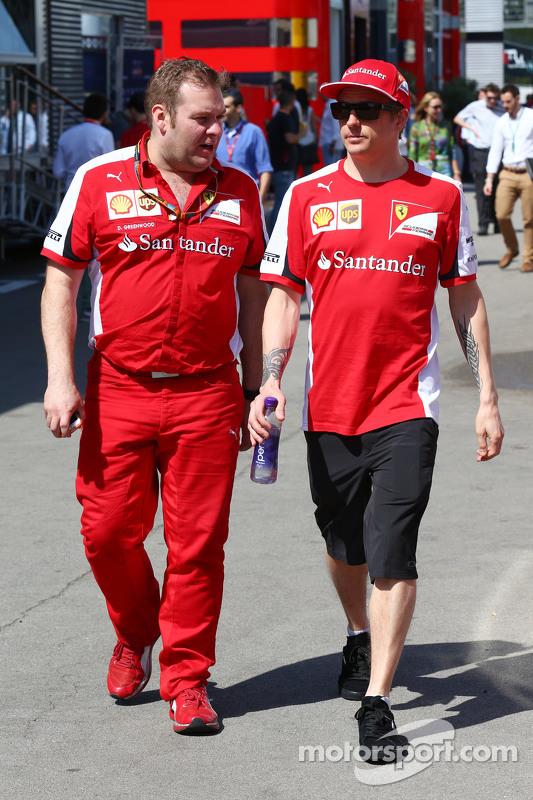 Kimi Räikkönen, Ferrari, und Renningenieur Dave Greenwood