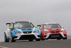 Andrea Belicchi, SEAT Leon, Target Competition和Pepe Oriola, SEAT Leon, Craft Bamboo Racing LUKOIL