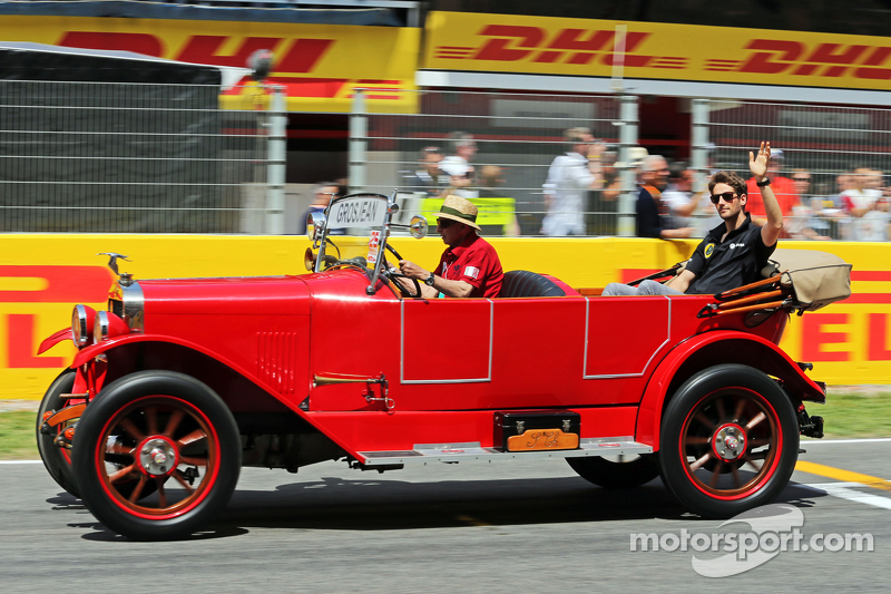 Romain Grosjean, Lotus F1 Team on the drivers parade