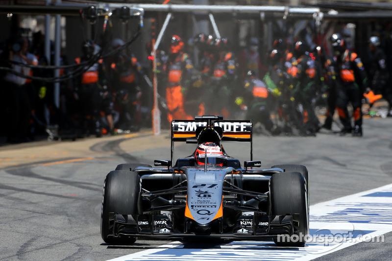 Nico Hülkenberg, Sahara Force India, beim Boxenstopp