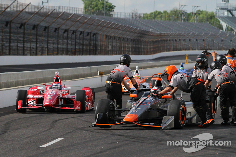 Stefano Coletti, KV Racing Technology, und Scott Dixon, Chip Ganassi Racing, Chevrolet