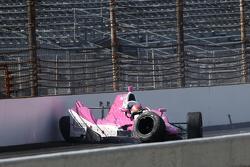 Пиппа Манн, Dale Coyne Racing Honda in huge crash