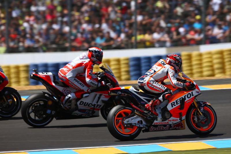 Marc Marquez, Repsol Honda Team, und Andrea Dovizioso, Ducati Team