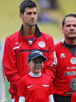 Novak Djokovic Tennis Player at the charity football match