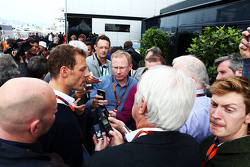 Alex Wurz, Williams Driver Mentor and GPDA Chairman with the media