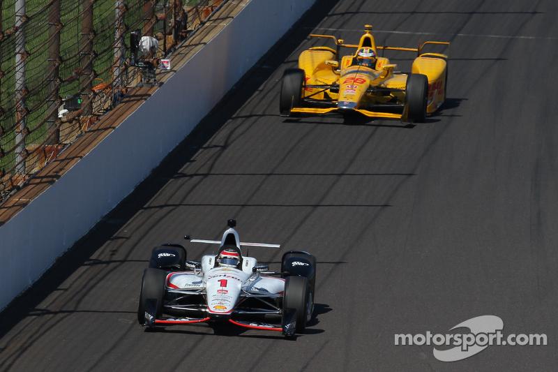 Will Power, Team Penske Chevrolet, e Ryan Hunter-Reay, Andretti Autosport Honda