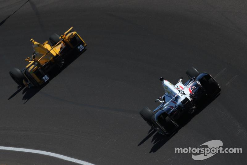 Ryan Hunter-Reay, Andretti Autosport Honda and Will Power, Team Penske Chevrolet