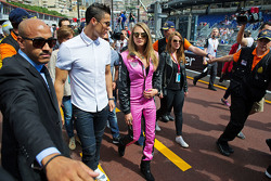 (L to R): Cristiano Ronaldo, Real Madrid Football Player with Cara Delevingne, Model