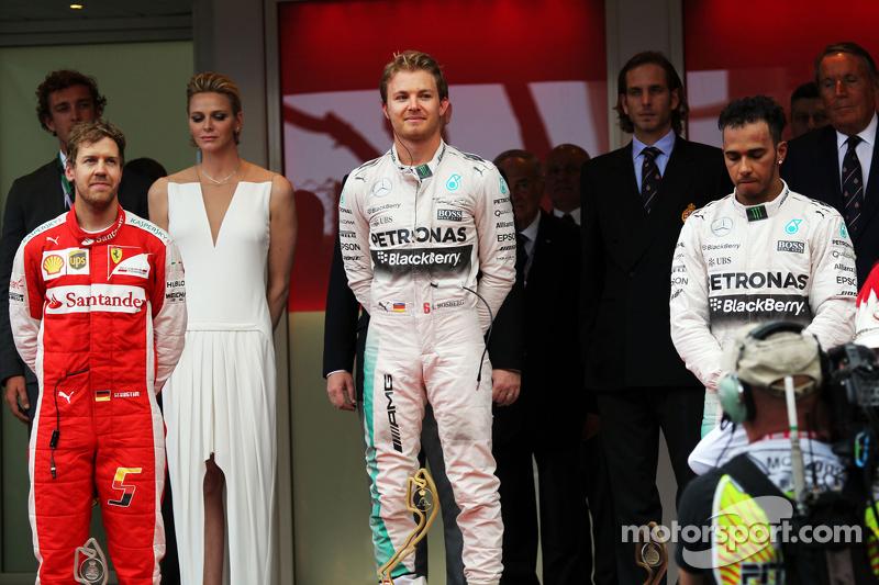 2015: 1. Nico Rosberg, 2. Sebastian Vettel, 3. Lewis Hamilton