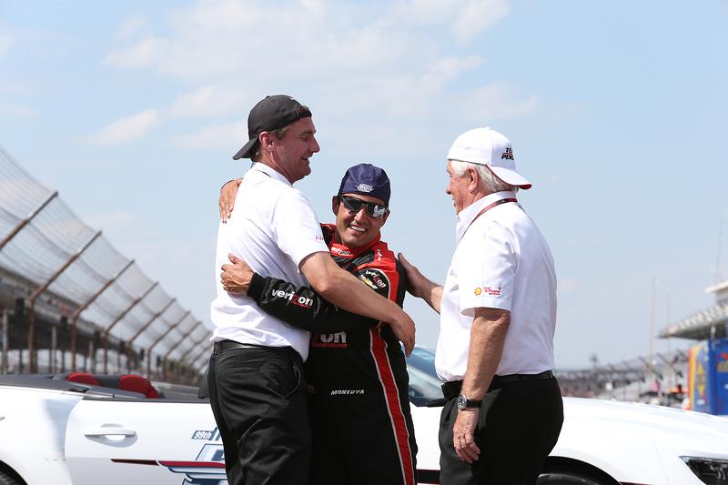 Tim Cindric, Roger Penske, und 1. Juan Pablo Montoya, Team Penske, Chevrolet