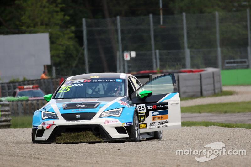 Stefano Comini, SEAT Leon, Target Competition, scheidet aus dem Rennen aus