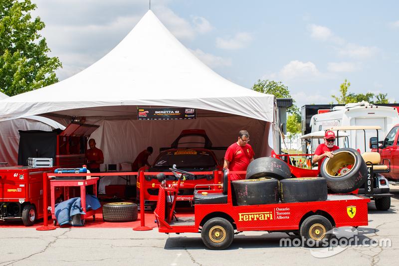 R. Ferri Motorsport, Teambereich