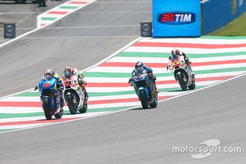 Maverick Viñales, Suzuki MotoGP Takımı ve Danilo Petrucci, Pramac Racing Ducati ve Scott Redding, Marc VDS Racing Honda ve Yonny Hernveez, Pramac Racing Ducati