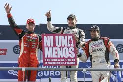 Podium Guillermo Ortelli, JP Racing Chevrolet en Juan Manuel Silva, Catalan Magni Motorsport Ford en Mauricio Lambiris, Coiro Dole Racing Torino
