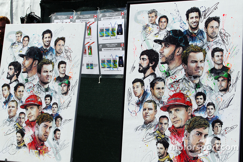 Signed artwork of the drivers